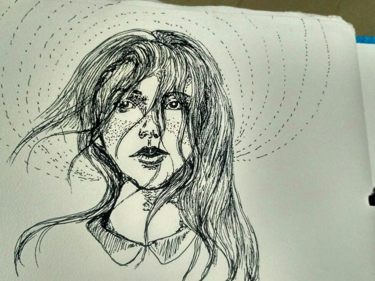 Pen drawing of a girl