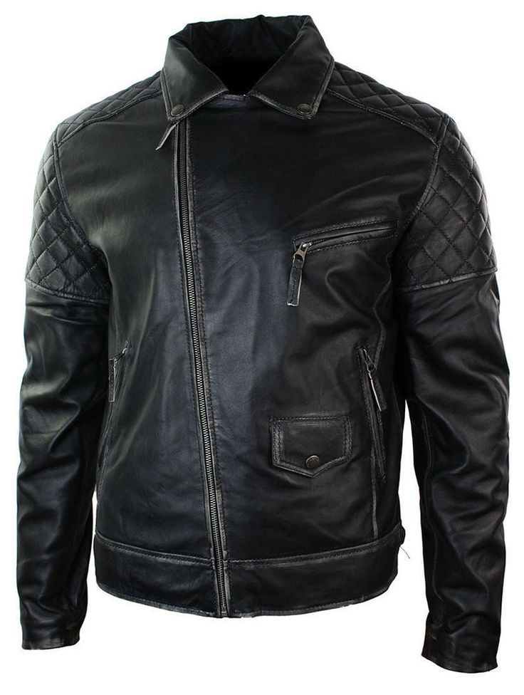 Motorcycle Brando Black Bikers Punk Vintage Handmade Leather Jacket All Sizes #Handmade #Motorcycle