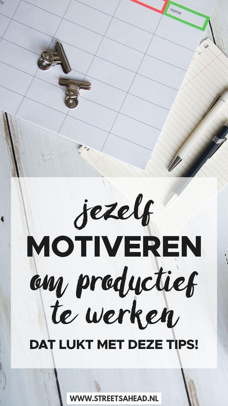 Soms heb je even helemaal geen zin om iets te doen. Maar toch moeten er dingen gebeuren, of je bent ambitieus en ziet ook wel wat beters dat je kunt doen. Maar hoe? Ik help je jezelf motiveren om productief te werken!