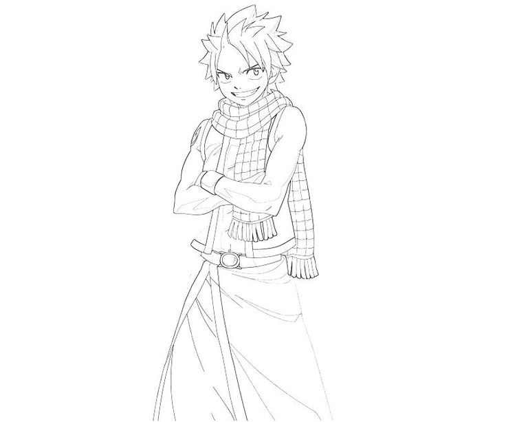 awesome printable fairy tail natsu smile coloring pages best for your student http - Fairy Tail Coloring Pages
