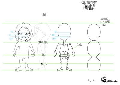 Character Pandora model sheet - front view. Check out more on my blog here (http://jasoncrawford-art.blogspot.co.nz/). :)