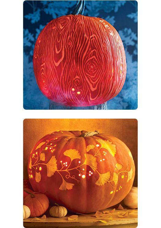 More pumpkin carvings