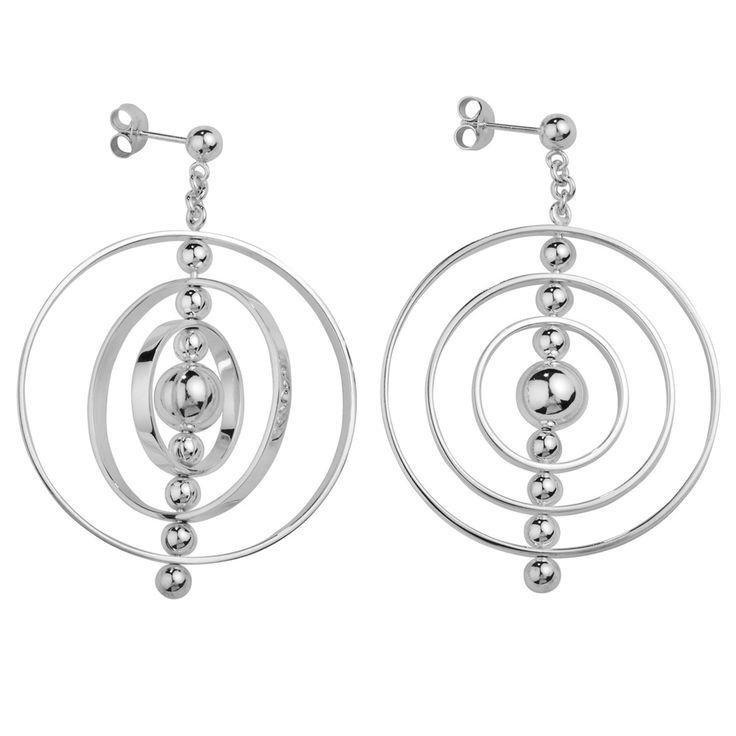 Aarikka - Silver jewelry : Galaksi earrings. Designer: Kaija Aarikka (2014)