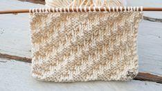 Ponto diagonal: para tricotar cachecóis em duas agulhas