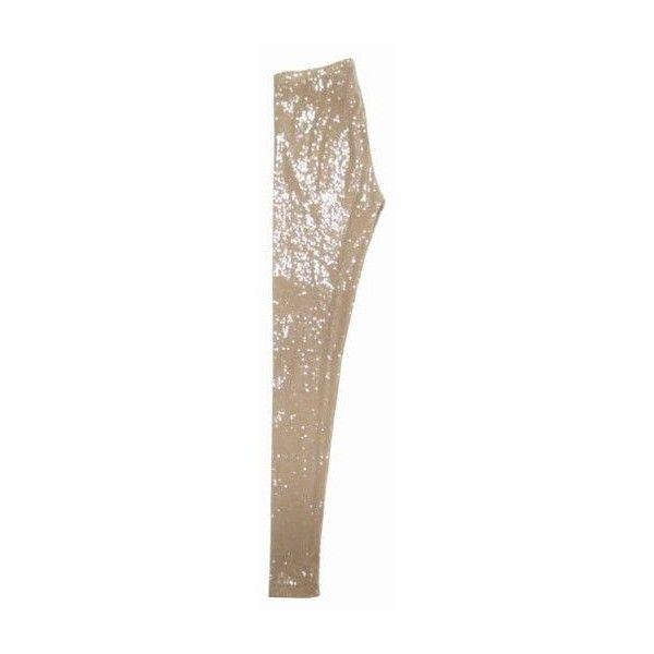 Pantaloni Relish : Leggings con paillettes - Leiweb found on Polyvore