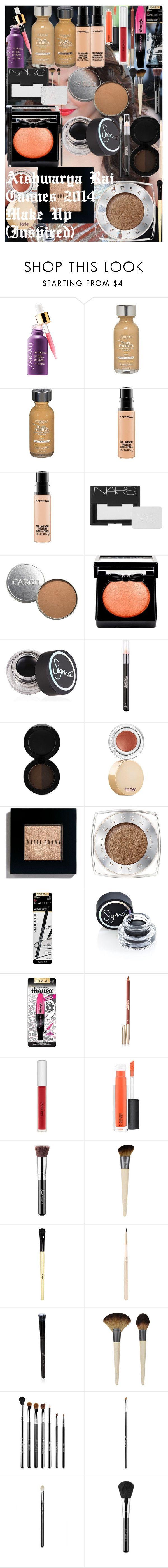 """Aishwarya Rai Cannes 2014 Make Up (Inspired)"" by oroartye-1 on Polyvore featuring beauty, Amrapali, L'Oréal Paris, MAC Cosmetics, NARS Cosmetics, CARGO, NYX, Sigma, tarte and Bobbi Brown Cosmetics"