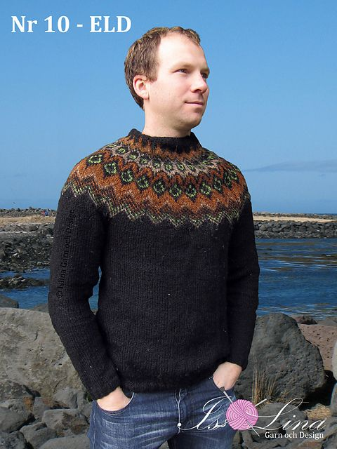 Ravelry: Pattern - ELD - Icelandic Sweater in lopi light - No 10 pattern by Lina Olofsson