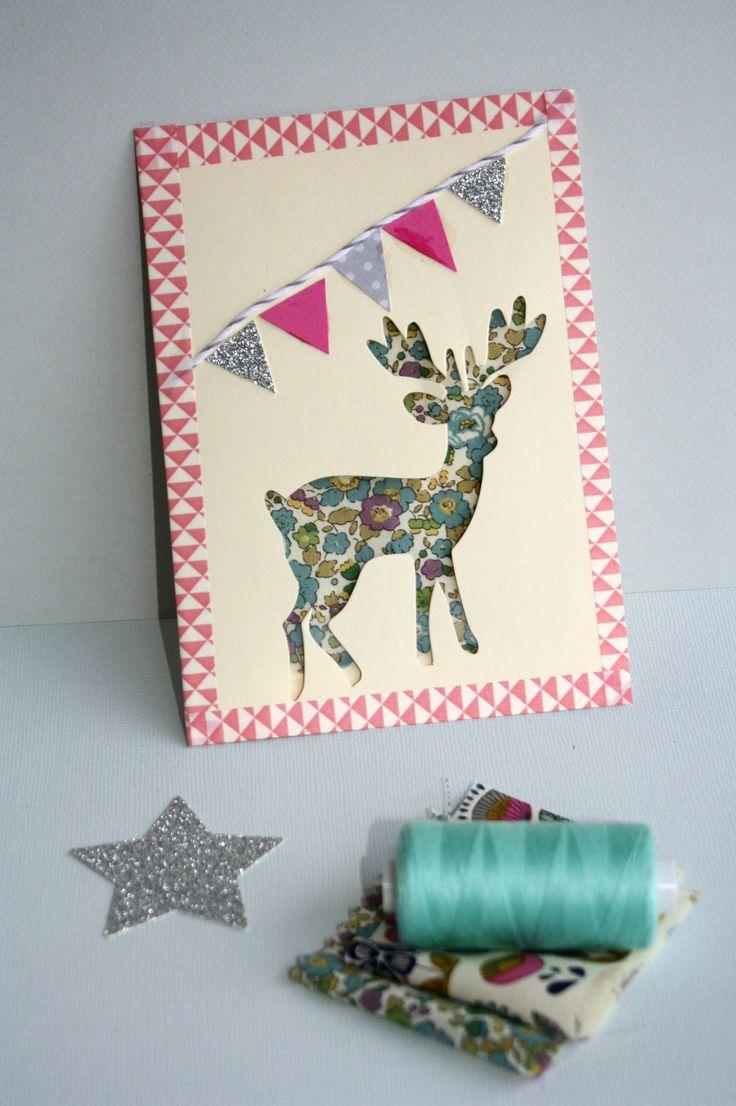 Carte bambi rose