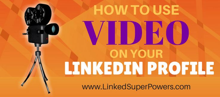 Let me get straight to the point as I usually do: In today's post I'm going to give you some LinkedIn Expert Training on how to UP the visibility and credibility of your LinkedIn Profile. In more detail, today I'm going to show you how to enhance your LinkedIn profile with video!