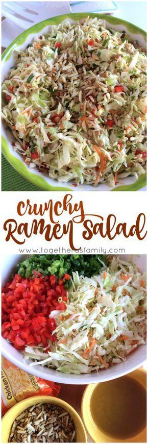Crunchy Ramen Salad - Together as Family