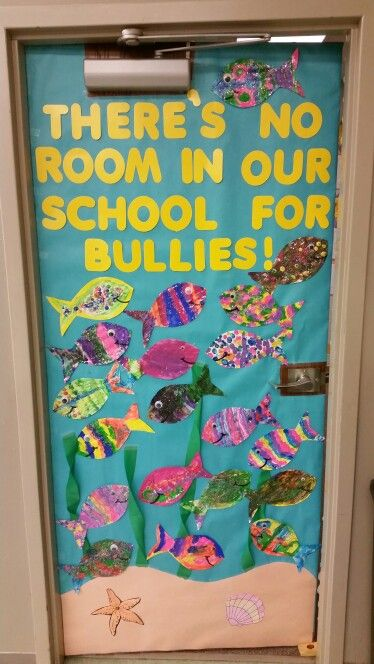 My Anti bully door. There's no room in our school for bullies. #firstgradefun