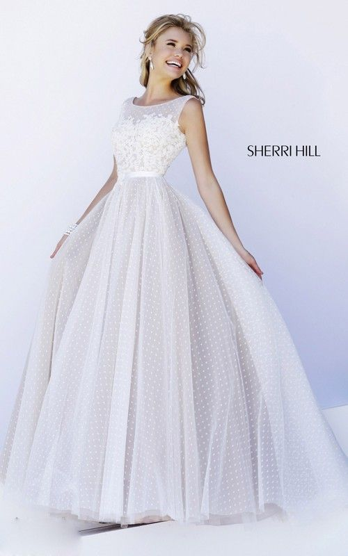 Elegant Unique Prom Dress Ivory Sherri Hill 11230
