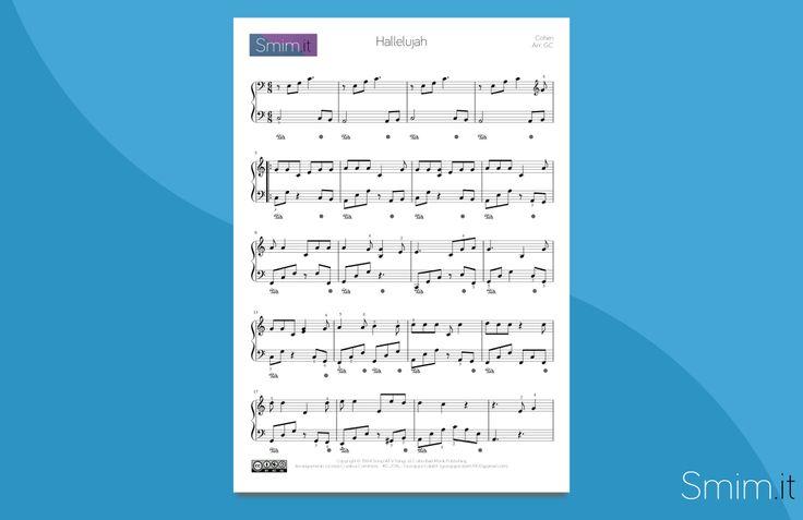 Hallelujah di Leonard Cohen: spartito gratis per pianoforte, arrangiato per allievi di Scuola Media ad Indirizzo Musicale SMIM