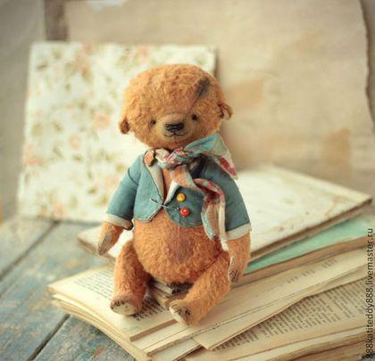 Маленький джентльмен тедди-мишка Лёвушка — работа дня на Ярмарке Мастеров   #teddy #teddybear