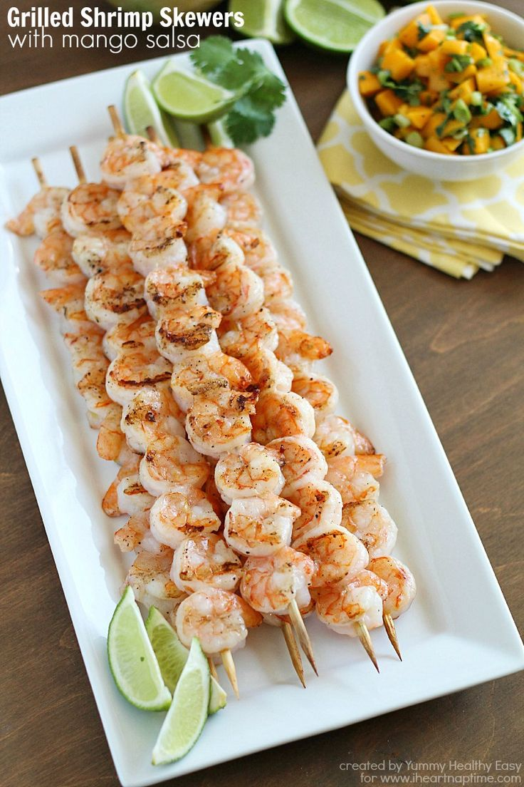 Grilled Shrimp Skewers with Mango Salsa...easy, healthy and absolutely delicious!