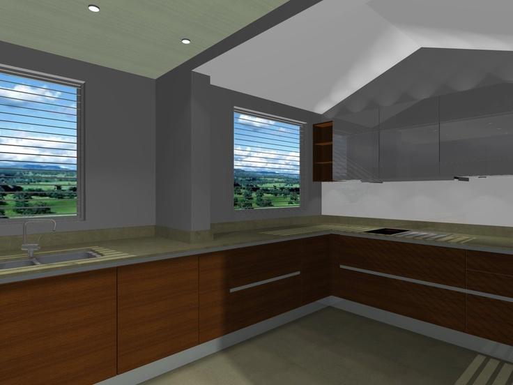 Kitchen design - view (b)