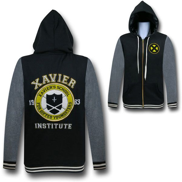 """X-Men Xavier School Varsity Hoodie"" GIVE IT TO ME JUST PLEASE GIVE IT TO ME RIGHT NOW I NEED IT"