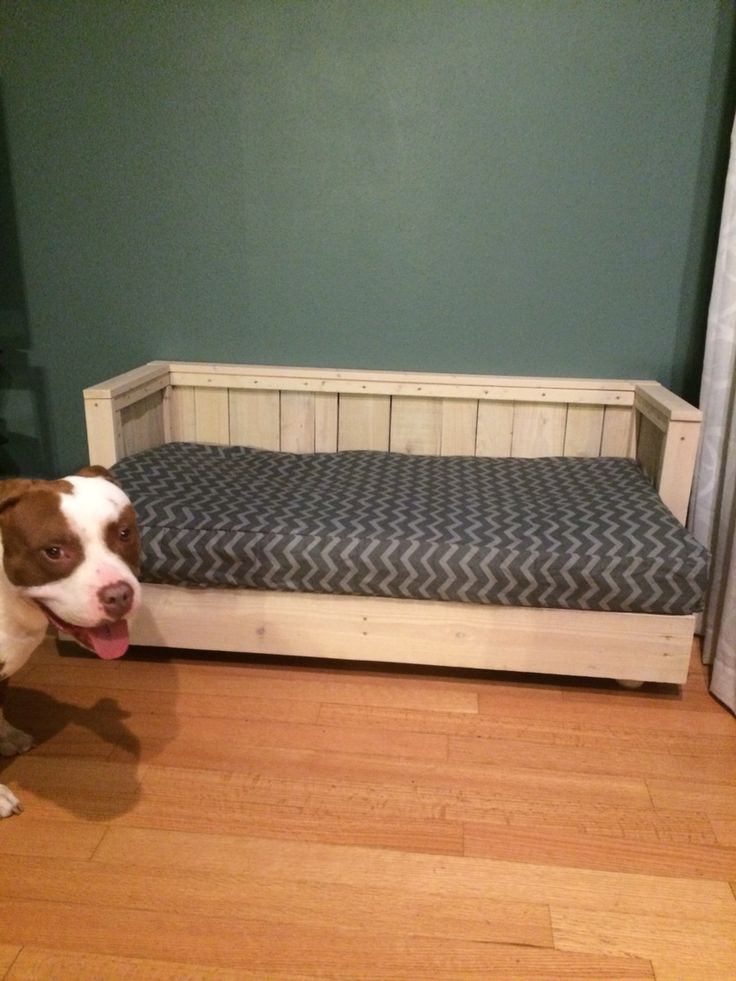 Dog Bed Couch Made From Pallet Wood And Some 1x2 And 1x3