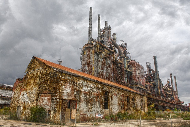 Bethlehem Steel Company in  Bethlehem, Pennsylvania. Built in 1857. Imagine all of the structures we use today that began right here. Amazing history...