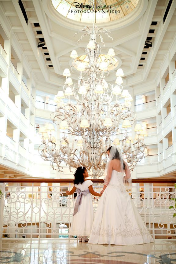 Bride And Flower In The Lobby Of Grand Floridian Hotel Disney World