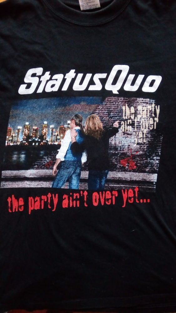 Status Quo Tour Just Doin It Live tour 2006 100% Cotton size L black