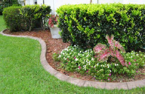 A Curbing Edge Decorative Concrete Landscape Borders