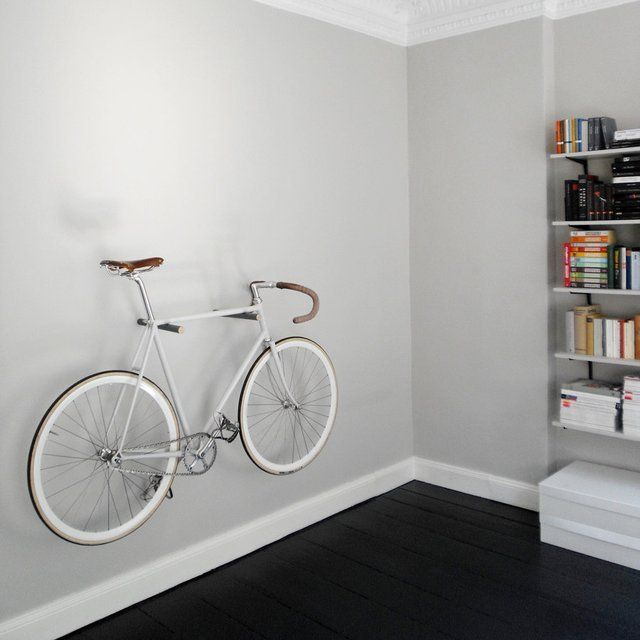 Fancy - Minimal Wooden Bike Hook - could take an ugly irreparable bike and make it a decoration.