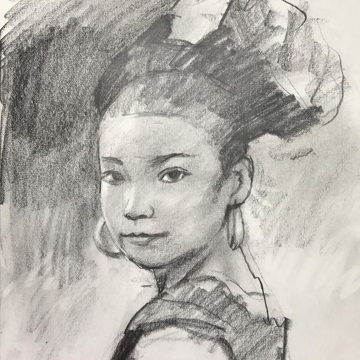A young girl #graphite #graphitedrawing #portrait #girl #video #yongchen #pencildrawing