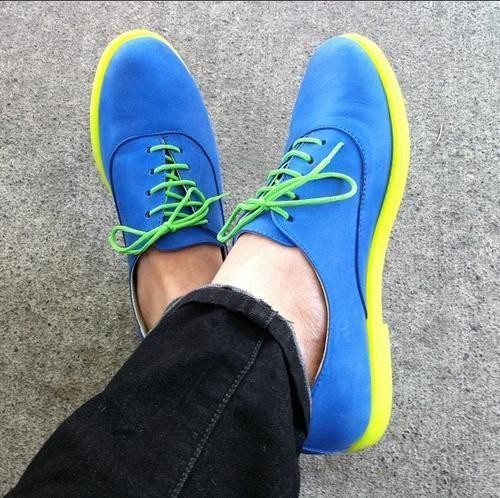 Zapatos comprados en una feria de diseño en Buenos Aires