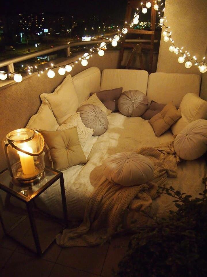 Comfy Romantic Balcony Terrace Garden Pinterest