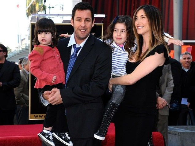 Family photo of Adam Sandler, married to Jackie Sandler, famous for Grown Ups & Big Daddy.