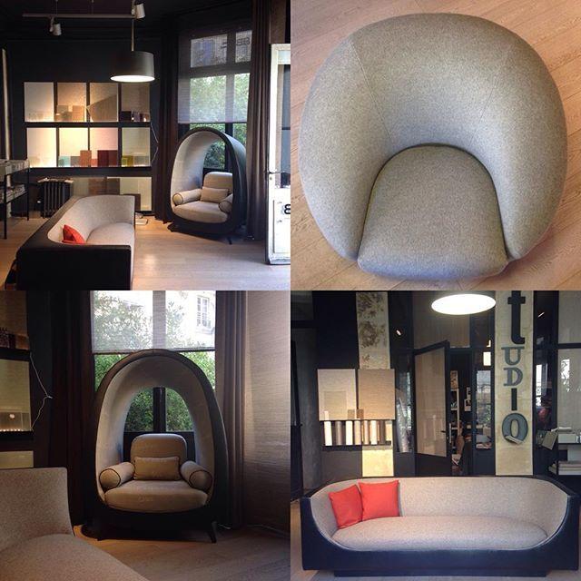 Les sièges et canapés de David Manien chez #bissonbruneel nous donnent comme une envie de faire un break dans le #parcoursmaraisbastille... #PDW15 #TEAM14SPIN#TEAM14SINS #team14stw #design #deco #sofa #interiordesign