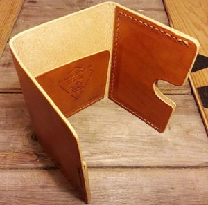 Backyard Denim - Hand-stitched Leather Wallet