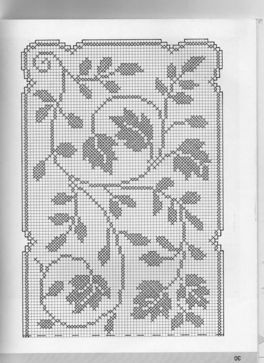l ufer bl tter h keln crochet crochet diverses pinterest gardinen l ufer und vorlagen. Black Bedroom Furniture Sets. Home Design Ideas
