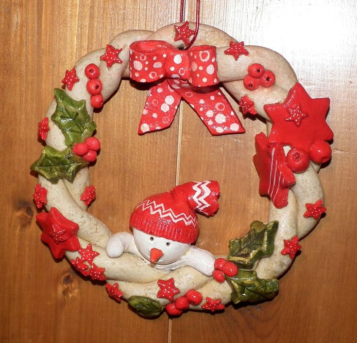salt dough Holiday wreath