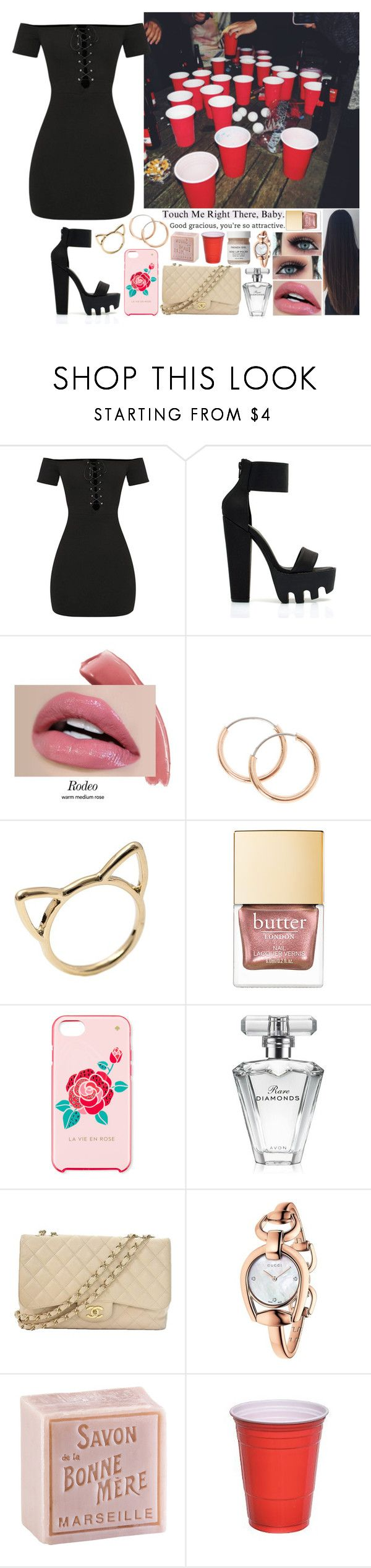"""Sin título #1389"" by gisella-jb-pintos ❤ liked on Polyvore featuring Kate Spade, Avon, Chanel, Gucci, French Girl and L'Occitane"