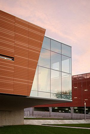 Exterior window corner - Lawrence Public Library - 2030 Architecture - Gould Evans