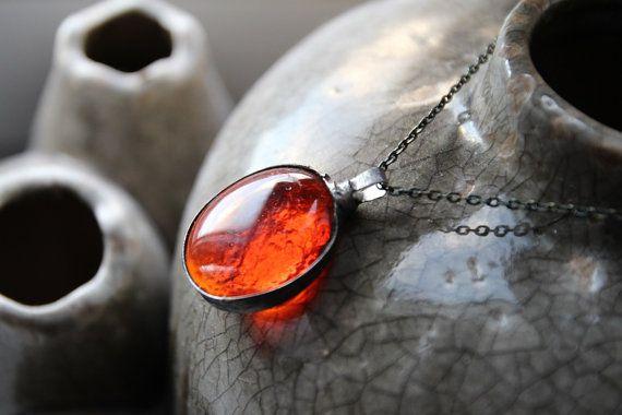 Round transparent red orange clear glass by CreativeStudioML
