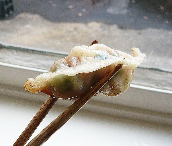 prawn and pork gyoza (potsticker)