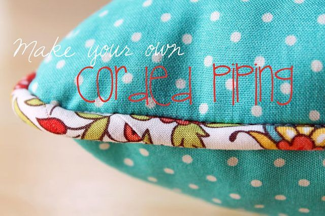 The Beauty of Bias Tape Part 5: Recover an Old Pillow with DIY Corded Piping