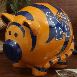 Memphis Tigers Resin Piggy Bank