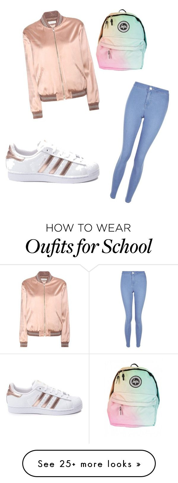 """""""School"""" by matre on Polyvore featuring New Look, Yves Saint Laurent and adidas"""