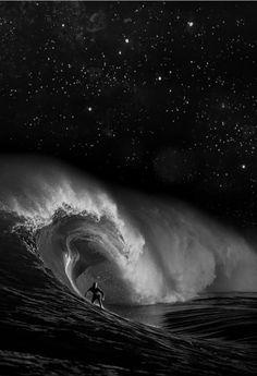 night surf sesh under the stars.