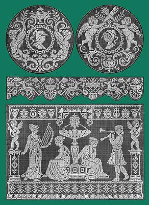 Filet Ancien #4 c.1917 French Lace Design Pattern Book STANDARD SIZE 8.5x11