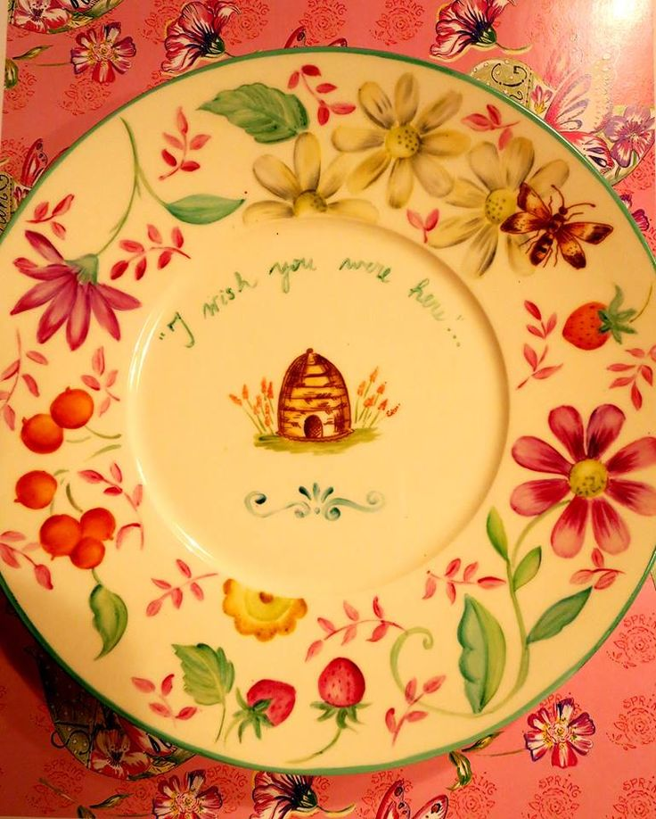I love this bee skep plate!