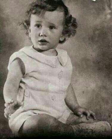 Robert Fuller as a baby.