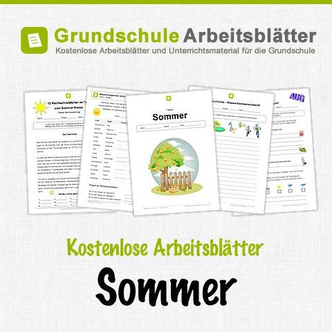 Kostenlose Arbeitsblätter und Unterrichtsmaterial zum Thema Sommer in der Grundschule.