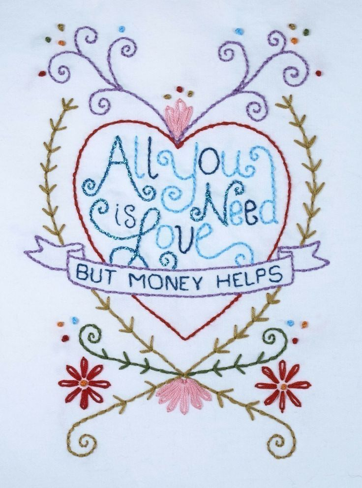 All You Need Is Love Embroidery Pattern