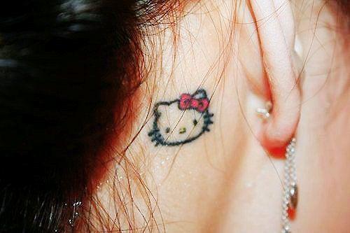 Cute Little Hello Kitty Tattoo....     lol