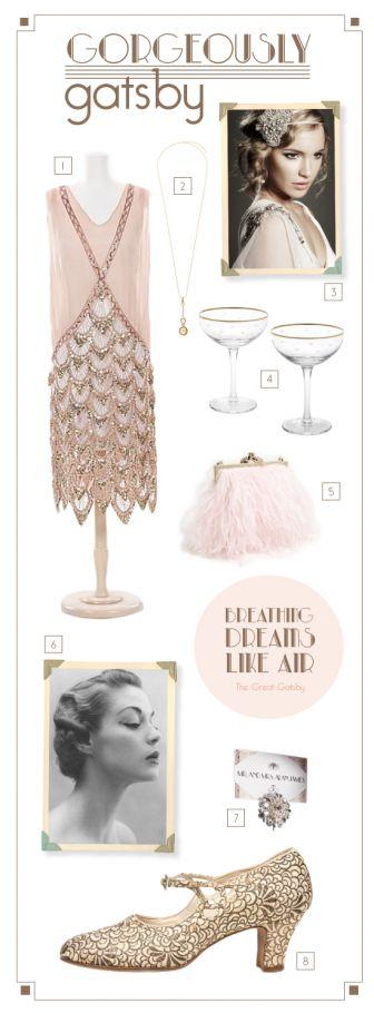Great Gatsby inspiration   via @Debra Eskinazi Stockdale Eskinazi Stockdale Eskinazi Stockdale Carpenter LifeStyle #fashion #style #pretty #movie #inspiration #whattowear